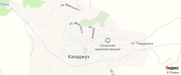 Улица Ярагского на карте села Каладжуха с номерами домов