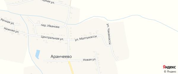 Улица Малтыкассы на карте деревни Аранчеево с номерами домов