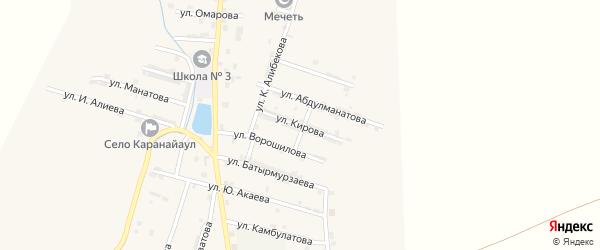 Улица Кирова на карте села Каякента с номерами домов