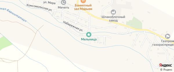 Молодежная улица на карте села Каякента с номерами домов