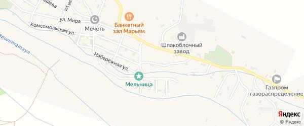 Улица Советский Дагестан на карте села Каякента с номерами домов