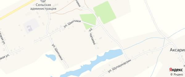 Улица Чапаева на карте деревни Аксарино с номерами домов