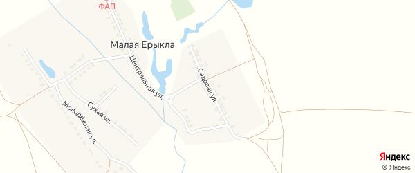 Садовая улица на карте деревни Малой Ерыклы с номерами домов