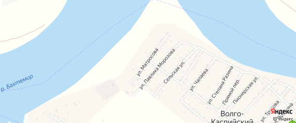 Улица Матросова на карте Волго-Каспийского поселка с номерами домов