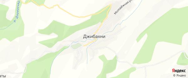 Карта села Джибахни в Дагестане с улицами и номерами домов