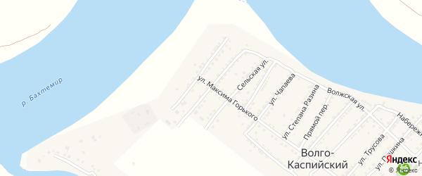 Улица П.Морозова на карте Волго-Каспийского поселка с номерами домов