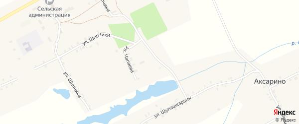 Улица Синъял на карте деревни Аксарино с номерами домов