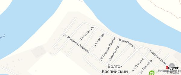 Улица О.Кошевого на карте Волго-Каспийского поселка с номерами домов