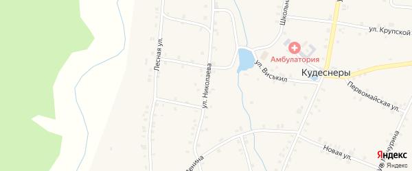 Улица Николаева на карте деревни Кудеснер с номерами домов