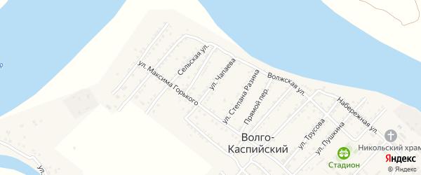 Улица Чапаева на карте Волго-Каспийского поселка с номерами домов