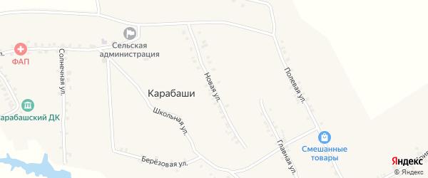 Новая улица на карте деревни Карабаши с номерами домов