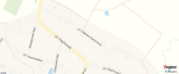 Улица Е.Никитина на карте деревни Арабосей с номерами домов