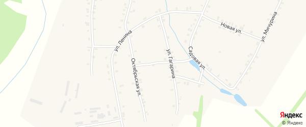 Переулок Механизаторов на карте деревни Кудеснер с номерами домов