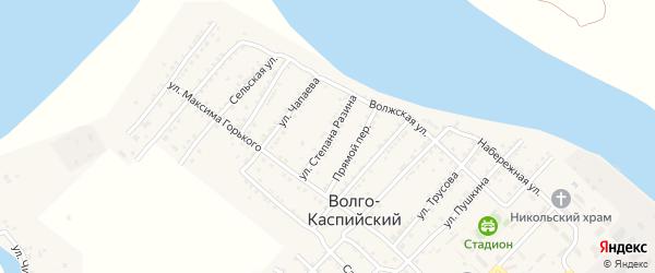 Улица С.Разина на карте Волго-Каспийского поселка с номерами домов