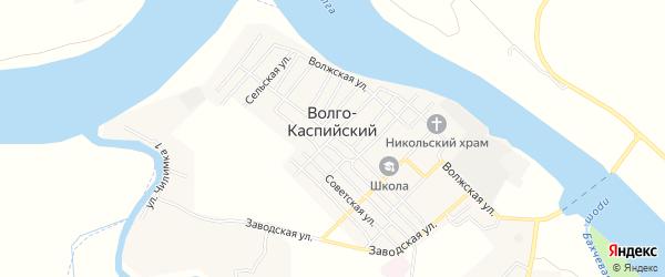 СТ СДТ Рытка на карте Волго-Каспийского поселка с номерами домов