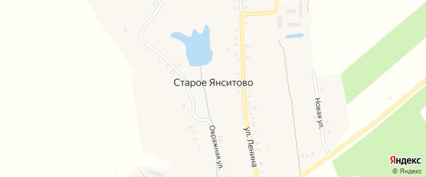Улица Р.Петрова на карте деревни Старого Янситово с номерами домов