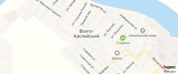 Улица М.Горького на карте Волго-Каспийского поселка с номерами домов