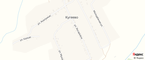Молодежная улица на карте деревни Кугеево с номерами домов