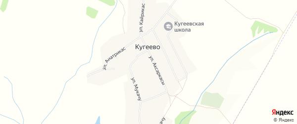 Карта деревни Кугеево в Чувашии с улицами и номерами домов
