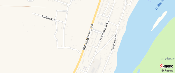 Молодежная улица на карте Астрахани с номерами домов