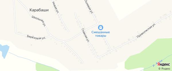 Главная улица на карте деревни Карабаши с номерами домов