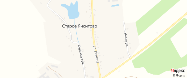 Улица Ленина на карте деревни Старого Янситово с номерами домов