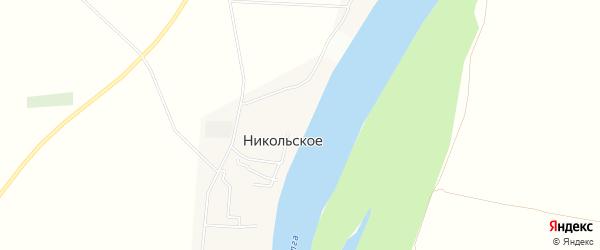 Карта Никольского села в Астраханской области с улицами и номерами домов