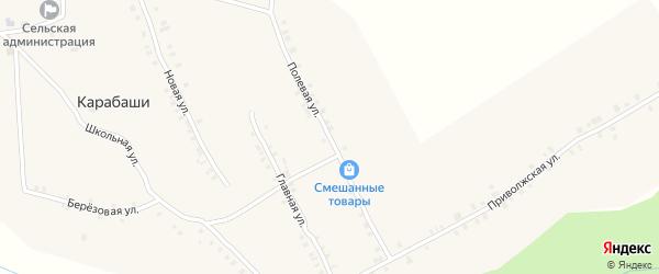 Полевая улица на карте деревни Карабаши с номерами домов