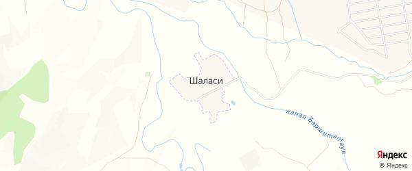 Карта села Шаласи в Дагестане с улицами и номерами домов