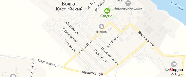 Октябрьская улица на карте Волго-Каспийского поселка с номерами домов