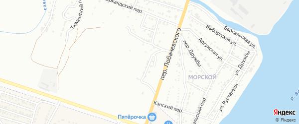 Самаркандский 12-й переулок на карте Астрахани с номерами домов