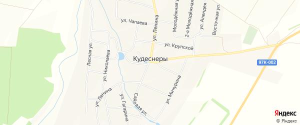 Карта деревни Кудеснер в Чувашии с улицами и номерами домов