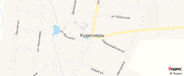 Садовая улица на карте деревни Кудеснер с номерами домов
