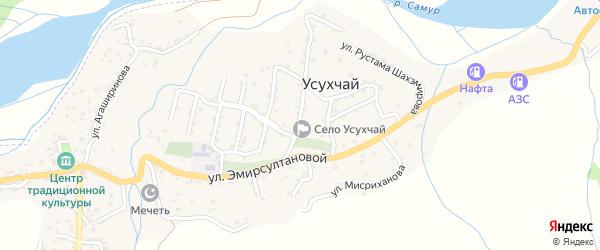 Улица Агаширинова на карте села Усухчая с номерами домов