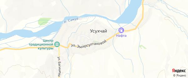 Карта села Усухчая в Дагестане с улицами и номерами домов