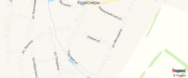 Новая улица на карте деревни Кудеснер с номерами домов