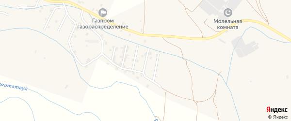 Улица Ю.Темирбекова на карте села Каякента с номерами домов