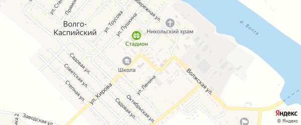 Улица Гоголя на карте Волго-Каспийского поселка с номерами домов