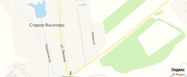 Новая улица на карте деревни Старого Янситово с номерами домов