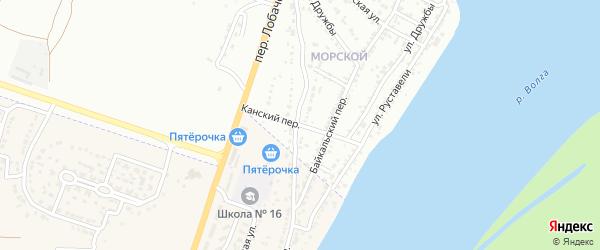 Канский переулок на карте Астрахани с номерами домов