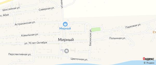 Габдулы Тукая улица на карте Мирного поселка с номерами домов