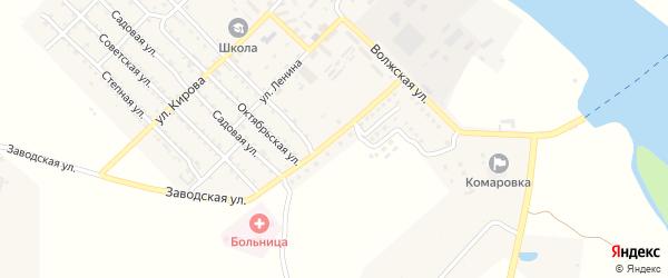 Заводская улица на карте Волго-Каспийского поселка с номерами домов