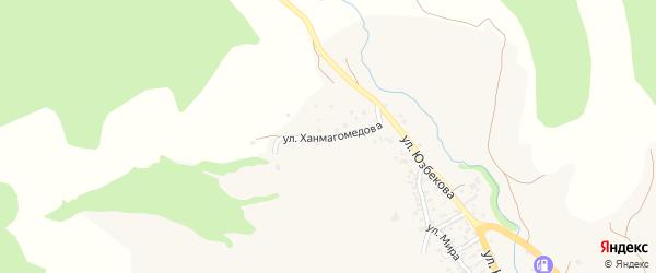 Улица Ханмагомедова на карте села Хива с номерами домов