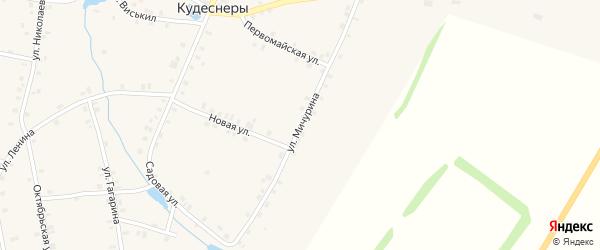Улица Мичурина на карте деревни Кудеснер с номерами домов