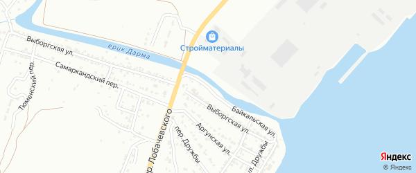 Байкальская улица на карте Астрахани с номерами домов