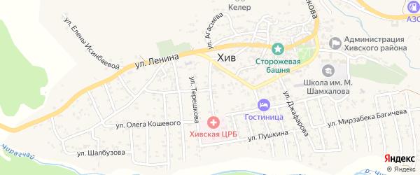 Больничная улица на карте села Хива с номерами домов