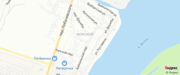 Байкальский переулок на карте Астрахани с номерами домов