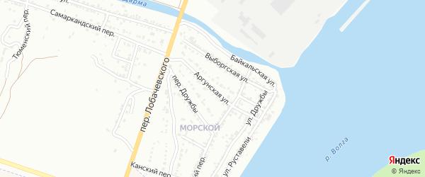 Аргунская улица на карте Астрахани с номерами домов