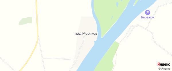Карта поселка Морякова в Астраханской области с улицами и номерами домов