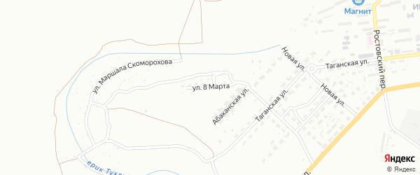 Улица 8 Марта на карте Астрахани с номерами домов